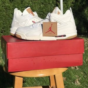 Air Jordan Retro 4 Levi Levi's White new with box